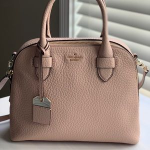 Kate Spade Pink Pebbled Leather Satchel